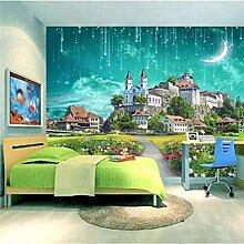 Schloss 3D Foto Tapete für Wohnzimmer