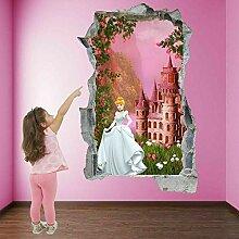 Schloss Wandkunst Aufkleber Wandaufkleber ED13