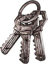 Schlüssel Garderobe aus Metall Schlüsselbund Optik