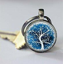 Schlüsselanhänger, Baum des Lebens, weißer