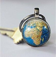 Schlüsselanhänger, Globus-Schlüsselanhänger,