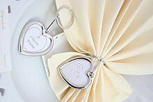 Schlüsselanhänger Herzbilderrahmen 2-seitig, Kunststoff, silber, ca.: B:4,5cm/H:5cm/GL:9,5