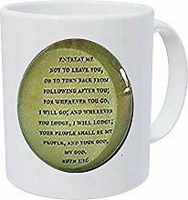 Schlüsselanhänger mit Bibelvers, Glas,