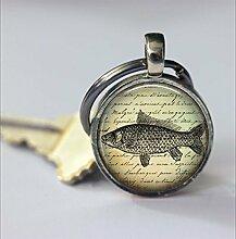 Schlüsselanhänger mit Fisch-Motiv,