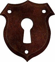 Schlüsselblatt Biedermeier Eisen rostig 46 x 40 - Stilmelange Qualität aus Europa seit 1998