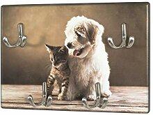 Schlüsselboard mit Hund und Katzen Motiv, 4