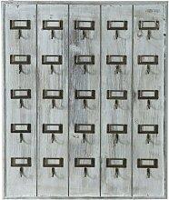 Schlüsselbrett aus Holz, weiß lackiert,