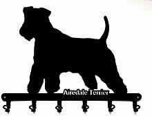 Schlüsselbrett / Hakenleiste * Airedale Terrier *