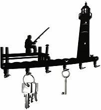 Schlüsselbrett / Hakenleiste * Angler mit