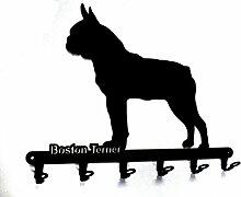 Schlüsselbrett / Hakenleiste * Boston Terrier * -