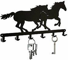 Schlüsselbrett / Hakenleiste * Rennpferd * -