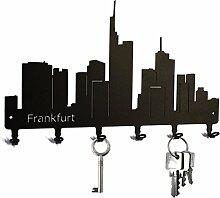 Schlüsselbrett / Hakenleiste * Skyline Frankfurt