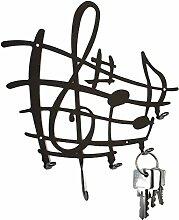 Schlüsselbrett ** Notenstyle ** Hakenleiste aus