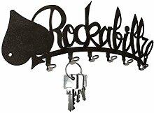Schlüsselbrett ** Rockabilly ** Hakenleiste aus