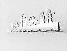 Schlüsselhaken Haus Keyboard Edelstahl 9 Haken