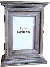 Schlüsselkasten 30cm mit Foto Rahmen Shabby Stil