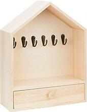 Schlüsselkasten aus Holz, mit Schublade, 25 x 10