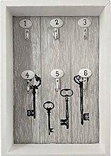 Schlüsselkasten, Schlüsselbrett, 6 Haken,