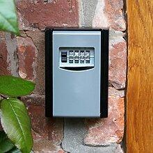 Schlüsselsafe mit Zahlencode zur Wandmontage im Innen - und Außenbereich