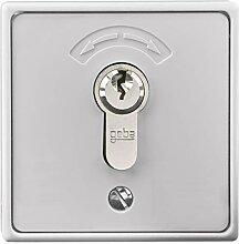 Schlüsseltaster Aufputz mit Zylinder und 3