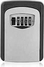 Schlüsseltresor Wand Schlüsselkasten, Schlüsselsafe mit 4-stelligem Zahlencode Schlüsselbox für Innen- und Außenbereich