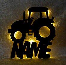 Schlummerlicht I Nachtlicht Traktor personalisiert mit Namen für Jungs Junge Männer Mann