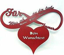 Schlummerlicht24 Jahrestagsgeschenke Ich liebe dich für immer Geschenke Frauen Männer Freund Freundin Led Geschenk mit Name Datum Love