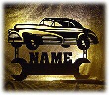 Schlummerlicht24 Led Nachtlicht Deko Lampe Oldtimer mit Name Geschenke für Auto Werkstatt Kfz Mechaniker Opa Oma Vater Mutter Geschenkidee Männergeschenke Männer Schrauber Car Tuning
