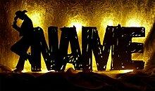 Schlummerlicht24 Led Wandtattoo Deko-Lampe Ein Cowboy-Hut mit Name, Geschenk für Western Männer und Indianer Party Wes