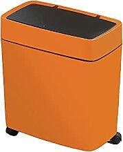Schmaler Push-Mülleimer Mit Deckel Und