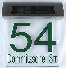 Schmalz® LED Solar Hausnummer mit integriertem