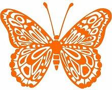 Schmetterling Aufkleber 001, 30 cm, orange