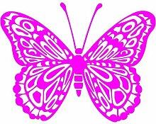 Schmetterling Aufkleber 001, 50 cm, pink