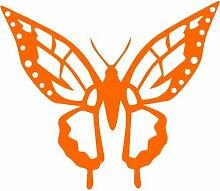 Schmetterling Aufkleber 002, 50 cm, orange