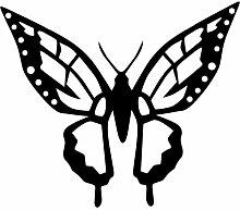 Schmetterling Aufkleber 002, 50 cm, schwarz