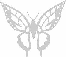 Schmetterling Aufkleber 002, 50 cm, silber