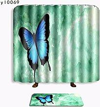 Schmetterling Badewanne Duschvorhang Pad