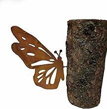 Schmetterling; Baumstecker; 32 cm; Metall, Rost;