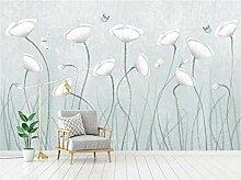 Schmetterling Blume 3D Tapeten -400Cmx280Cm Frisch