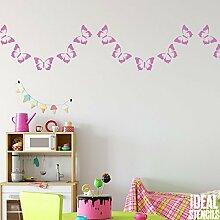 Schmetterling Girlande Muster Schablone Girls Home Kinderzimmer Wand Dekoration Schablone Wandfarbe Stoffe & Möbel 190 Mylar wiederverwendbar Schablone - semi transparent Schablone, 26x54cm