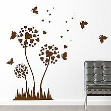 Schmetterling Mit Herz Wohnzimmer Vinyl Wandtattoo Aufkleber Easy Peel & Stick