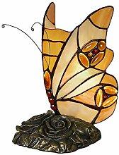 Schmetterling Nachttischlampen tischlampe glas im