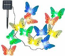 Schmetterling solarbetriebene Lichterkette für