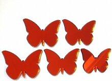 Schmetterling Spiegel, rot–12cm x 8cm