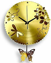 Schmetterling-Wanduhr , yellow