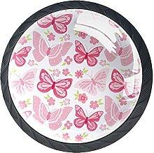 Schmetterlinge Rosa, 4Pack ABS Kommode Knöpfe