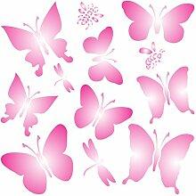 Schmetterlinge Schablone-wiederverwendbar
