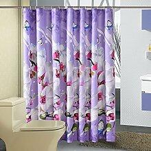 Schmetterlinge und Orchideen Duschvorhang