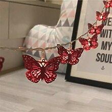 Schmetterlings Lichterketten, Led Metall