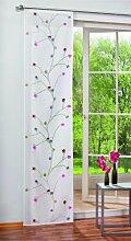 SCHMIDTGARD STOFFE Schiebevorhang mit Ast Motiv aus Deko Ausbrenner, bedruck
